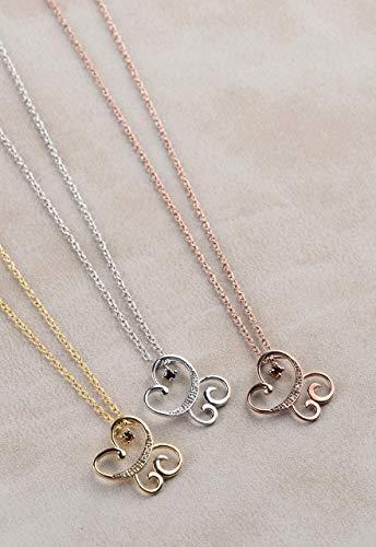 Diamond Butterfly Necklace, Natural Diamond Necklace, Animal Pendant Necklace, Butterfly Jewelry, Animal Butterfly, Birthday Gift Necklace