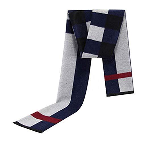 なすリマーク延ばすスカーフ冬暖かいシンプルなコントラストカラーメンズファッションカラー (色 : A)