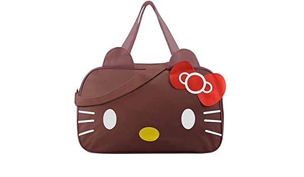 501ff54e3 Mihawk Cute Hello Kitty Handbag Girl's Women's Travel Messenger Bags  Dual-use Organizer Shoulder Accessories Supplies Products Color Coffee:  Handbags: ...