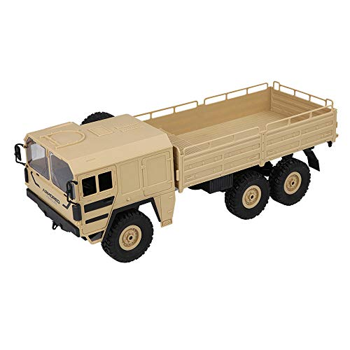 Vovomay JJRC Q63 RC 1:16 2.4G Remote Control 6WD Tracked Off-Road Military Truck Car RTR Toy (Yellow)