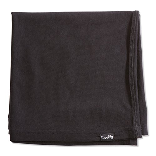 erino Wool Infant Swaddle Blanket (260 Flex GSM) Charcoal Onesize (Infant Wool Blankets)