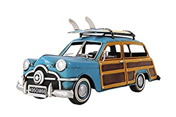 Old Modern Handicrafts 1949 Ford Wagon Car with Two Surfboards Collectible, Green