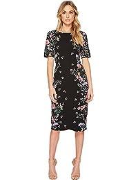 Women's Printed Sheath Midi Dress