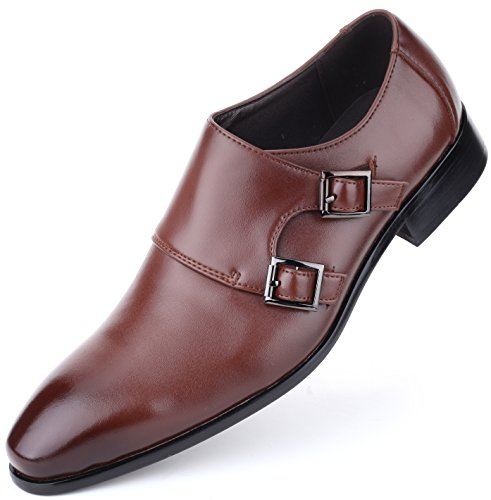 Men's Leather Oxford Dress Shoes Formal Classic Mens Shoes In A Bag - Burnt Sienna -