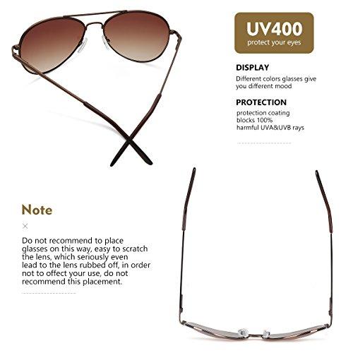 Premium de Femmes Classique et Soleil café Hommes de cadre Conçues Uv400 lentille Mode de Lunettes Les pour marron Lentilles avec Duduma avec w0qZTtW