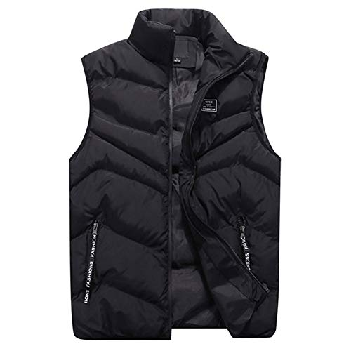 Men Waistcoat Winter,Vanvler Male Warm Vests Jacket Stand Collar Top Coat Autumn Fashion 2018 ()