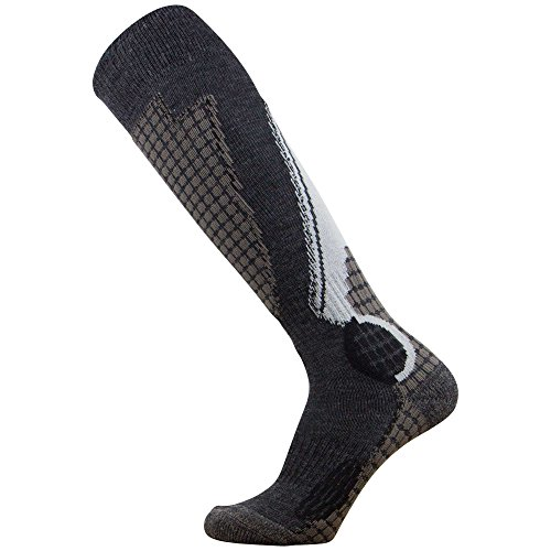 Pure Athlete High Performance Wool Ski Socks – Outdoor Wool Skiing Socks, Snowboard Socks...