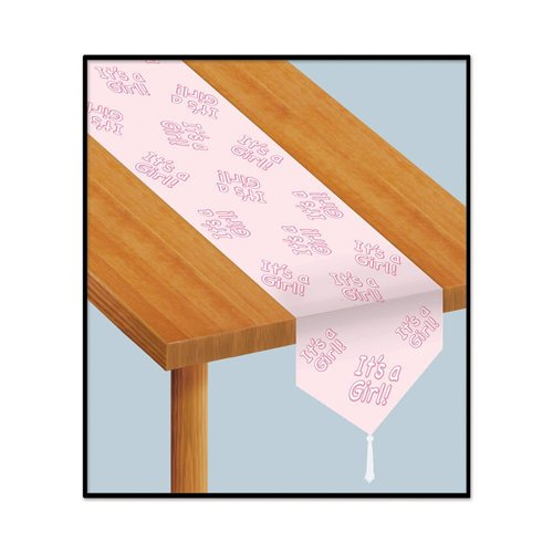 Beistle Company 54223 Printed Its A Girl Table Runner - Pack