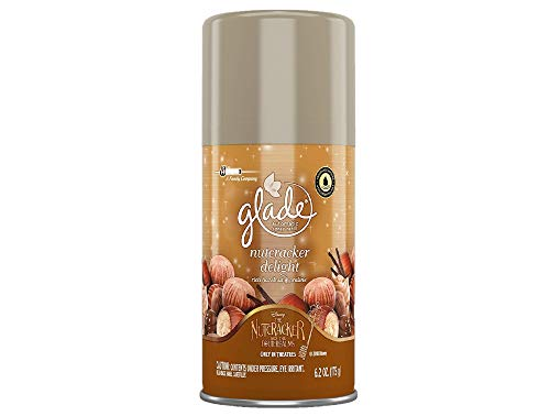 (Glade Automatic Spray Refill - Holiday Collection 2018 - Nutcracker Delight - Net Wt. 6.2 OZ (175 g) Per Refill Can - Pack of 2 Refill Cans)