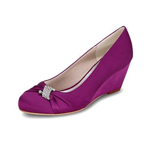 Heeled Purple Toe High L Wedge YC Ballet 22 Shoes Shoes Women'S 9140 Wedding Multicolored qT8zxwOq