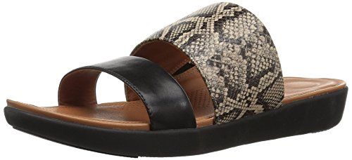 Taupe Slide Open Snake Tm Toe Delta Black Fitflop Sandals Women's qg0x8t