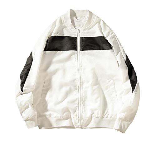Autunno Plus Giacca Degli Di Uomini A Zip Xinheo Vento Inverno Bianco size Leggerezza Moda dYfxRd