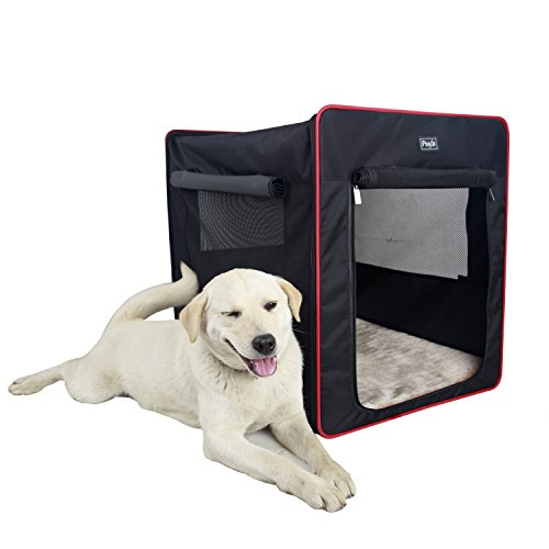 Petsfit 30x21x26 Inches Foldable Cat Kennel,Cat Cage,Dog Kennel,Lightweight Pet Kennel(Black) by Petsfit