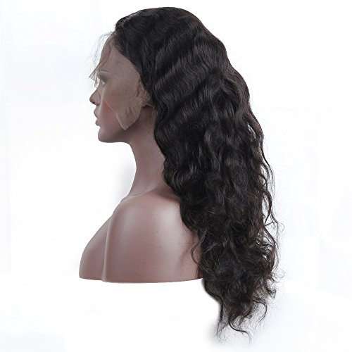 Queen Plus Body Wave 360 Lace Frontal Wig 180% Density Peruvian Virgin Hair Full Lace Cap Band Human Hair Wigs For Black Women Pre Plucked Hairline with Baby Hair (18inch) by Queen Plus Hair (Image #6)