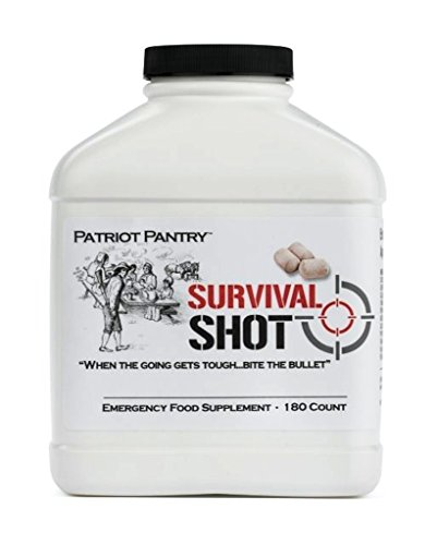 Patriot Pantry – Survival Shot – Emergency Food Supplement – 10 year shelf life (180 Count)