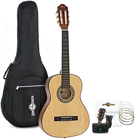 Set de Guitarra Clasica 3/4 Natural de Gear4music: Amazon.es ...