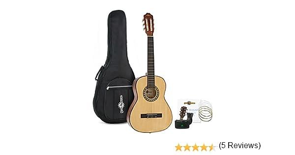 Paquete de Guitarra Española 3/4 de Gear4music Natural: Amazon.es: Instrumentos musicales