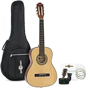 Set de Guitarra Clasica 3/4 Natural de Gear4music: Amazon.es ...