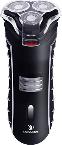 Price comparison product image Electric Shaver - Rechargeable Shaver - Rechargeable Battery - For Dry Skin - Black - by Utopia Care