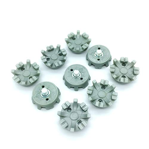 OLEYO 28PCS Gray Fast Twist Golf Shoe Spikes Replacements Golf Shoes Cleats Fit All with 1/4 Metal Thread Screw Studs Golf Shoes