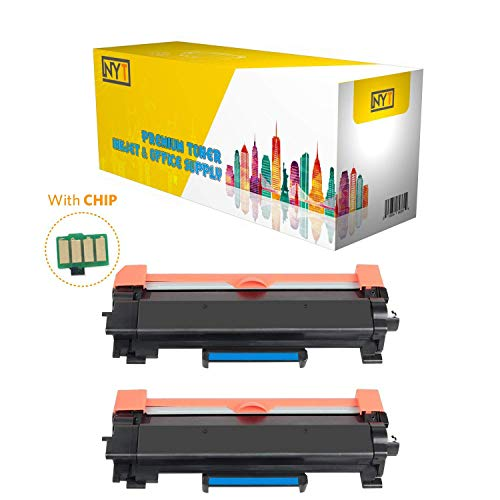 NYT Replacement for Brother TN760 Toner Cartridge - TN 760 High Yield with CHIP for Brother HL-L2350DW HL-L2370DW XL HL-L2390DW DCP-L2550DW HL-L2395DW MFC-L2710DW MFC-L2750DW XL - Black - 2 Pack