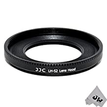 JW LH-52 Metal Lens Hood Shade for Canon EF 40mm EF f/2.8 STM Pancake 52mm Replaces ES-52 + JW emall Micro Fiber Cleaning Cloth