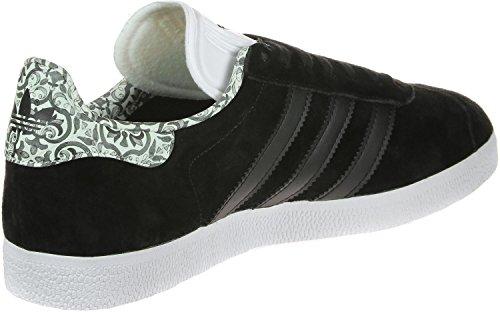 adidas Gazelle W, Zapatillas de Deporte para Mujer Negro (Negbas / Negbas / Ftwbla)