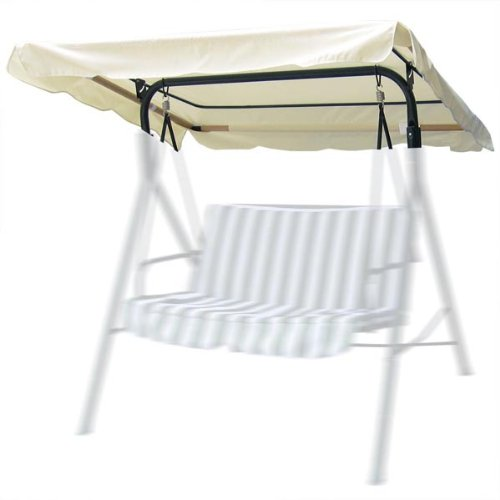 CHIMAERA 6.37 Foot Outdoor Patio Swing Canopy Replacement (Ivory)