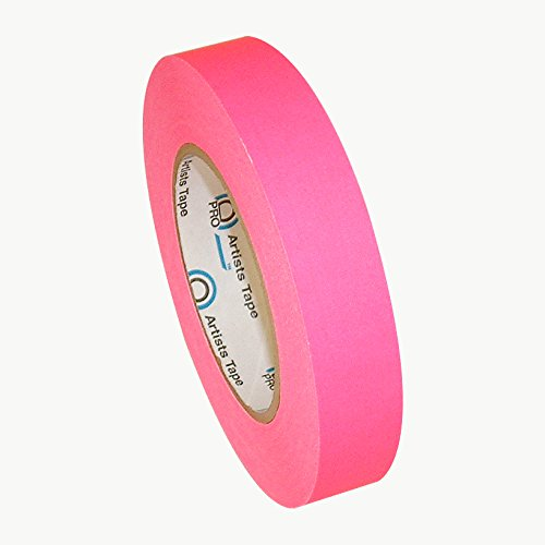 Masking Tape Pink (Pro Tapes Artist Tape 1 Inch Fluorescent Pink)