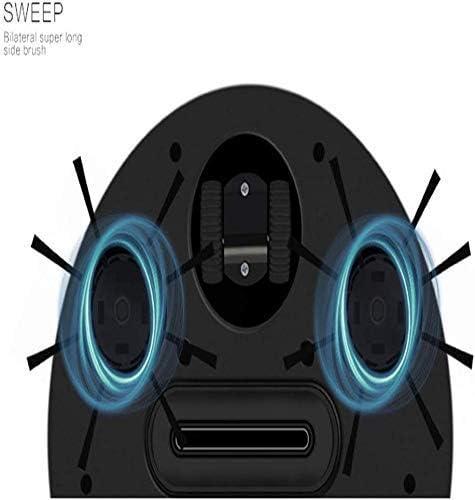 8bayfa Meyeye Intelligent Robot ménages Balayer Ultra-Mince Balayage Automatique Mopping Robot Aspirateur Balayer Et Traîner, Conçu for Plancher Dur et Mince Tapis, Noir