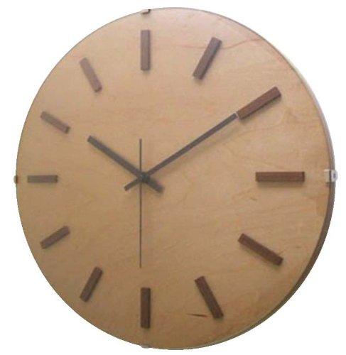 フォーカススリー 置き時計掛け時計 ナチュラル 直径34.8×5cm 1170531 B00ATXZUQC ナチュラル ナチュラル