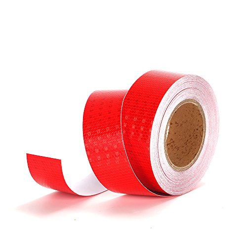 Red Reflective Tape Self Adhesive Warning Tape-2'' x 50' Outdoor HoneyComb Reflective Safety Tape -Conspicuity Solid Color Design by Michel Production
