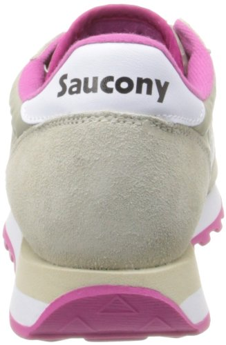 Chaussures Tan Cross White Original Jazz de Pink Saucony Femme fwBEqE