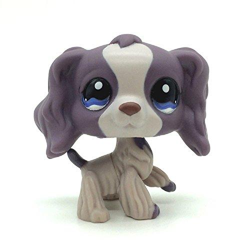 (Mini Pet Shop Purple Cocker Spaniel Dog Puppy Blue Eyes LPS #1209 Toy)