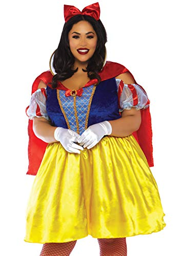 Leg Avenue Womens Plus Fairytale Snow White Costume, Multi, 3X-4X -