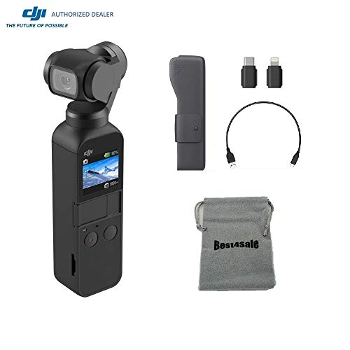 DJI Osmo Pocket Gimbal 3-Axis Stabilized Handheld Camera, Choose Options SD Card Supports 4K Video