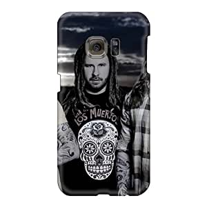 RitaSokul Samsung Galaxy S6 Excellent Hard Phone Cases Unique Design Realistic In Flames Band Image [LTL12255HzjB]