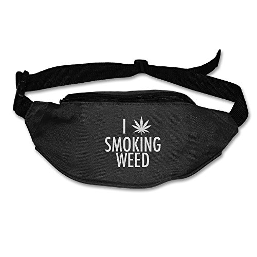 Price comparison product image 101Dog Outdoor Bumbag I Smoking Weed Pol Leaf 2 Mini Dumpling Waist Bag Packs Waist Bag Pouch For Women Man Outdoors Workout - Great For Running Hiking Travel Sport Fishing