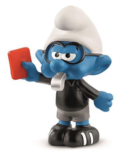 (Schleich Soccer Smurf Referee Toy Figurine)