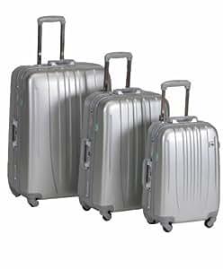 Idena Juego de maletas, 8960004, plateado  argento, 8960004
