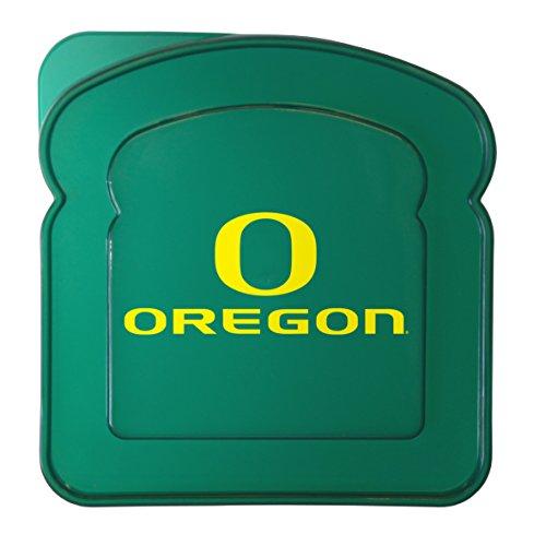 Boelter Brands NCAA Oregon Ducks Plastic Sandwich Container Container, Green, 5.5