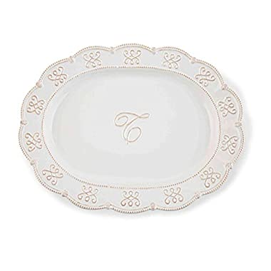 Mud Pie Initial Oval Platter