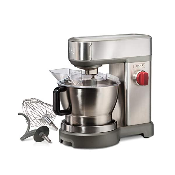 Wolf Gourmet High-Performance Stand Mixer, 7 qrt, with Flat Beater, Dough Hook and Whisk, Brushed Stainless Steel… 1