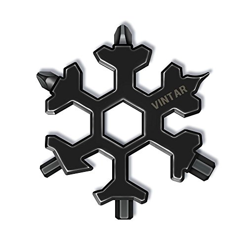 Vintar 18-in-1 Snowflake Multi-tool, Keychain screwdriver -Bottle opener, Cool gadgets,Great Christmas gift, Father'day Gift.
