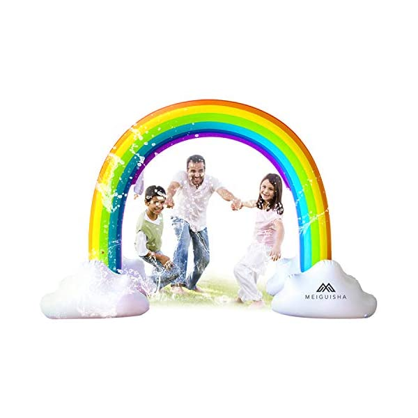 MeiGuiSha Inflatable Rainbow Yard Summer Sprinkler Toy, Over 6 Feet Long, Perfect for Summer Toy List 3