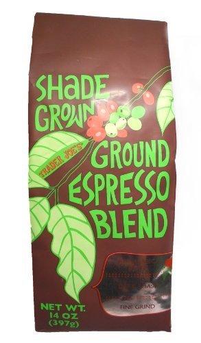 Trader Joe's Shade Grown Ground Espresso Blend Dark Roast Fine Grind 14 oz. (Pack of 2)