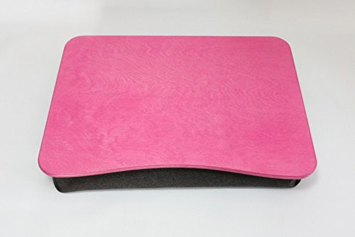 Wood Laptop Stand / Breakfast Tray / Wooden Laptop Bed Tray / Serving Tray / iPad Table / Pillow Tray ''Basic Pink''