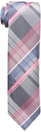 Geoffrey Beene Men's Under The Sun Plaid Tie, Pink, One Size