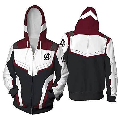 Unisex Avenger's Endgame Hoodie Superhero Hoodie 3D Printed Hoodies Costume Superhero Cosplay Costume (1, L)]()