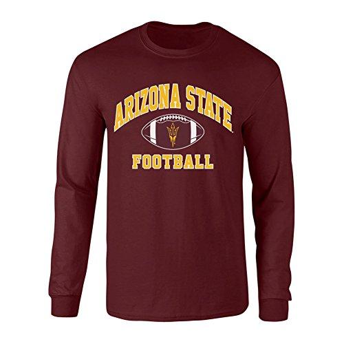 Arizona Long Sleeve T-shirt (Arizona State Sun Devils Long Sleeve Tshirt Maroon - L)